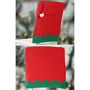 1pcs Big Elf Hat Chair Back Housing For Christmas Home Decor Ornaments Xmas Gift