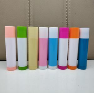 2019 New 1000pcs 4G three color lipstick tube DIY mouth wax PP environmental protection Lip Balm
