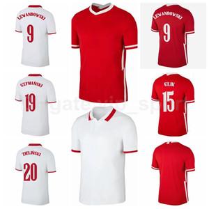 Football 9 Robert Lewandowski Jersey 11 Groski 7 Zielinski 7 Milik 15 Glik 14 Klich 23 Piatek 10 Krychowiak Chemises de chemise de football B-L