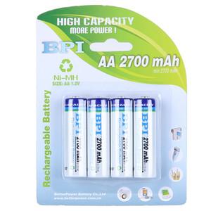 Size 5# Ni-MH rechargeable battery 1.2v AA large capacity 2700 mAh 4 pcs 1 lot