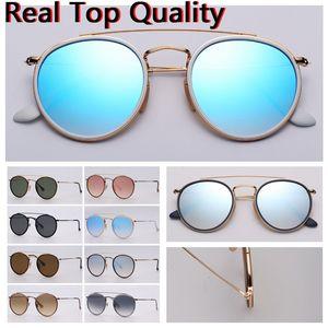 Occhiali da sole da donna Double Bridge Model 2020 Nuovi occhiali da sole da sole Occhiali da sole con custodia in pelle nera o marrone e tutto il pacchetto al dettaglio!