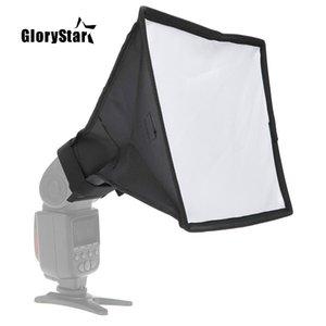 Glorystar 20 * 30 cm / 7.9 * 11.8in Taşınabilir Fotoğraf Flaş Difüzör Mini Softbox Kiti DSLR Speedlite Flash için