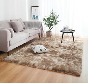 Anti-slip Floor Mats Grey Carpet Tie Dyeing Plush Soft Carpets Bedroom Water Absorption Carpet Rugs For Living Room Bedroom E7o2# bbyldCR