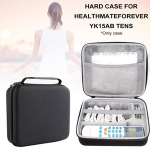 Black Hard Case EVA Hard Travel Case For HealthmateForever YK15AB TENS Unit Electronic Pulse Massager-Black