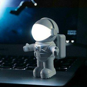 Flexible USB White Small Night Lights Astronaut Tube Portable LED Night Light DC5V Bulb For Reading