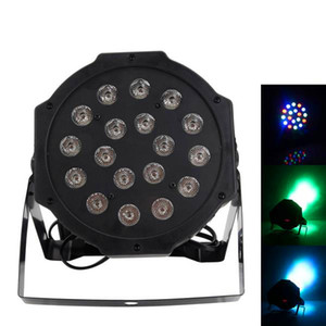 Newest Design 24W 18-RGB LED Auto   Voice Control DMX512 high quality Mini Stage Lamp (AC 100-240V) Black *10 Moving Head Lights