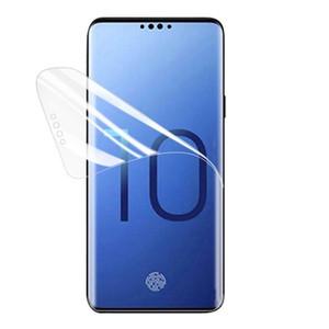 Полное покрытие изогнутые 3D крышка экрана защитник Pet Soft пленка для Samsung S8 S9 PLUS S10 S10E S20 S21 Примечание 8 9 10 20 не закаленное стекло