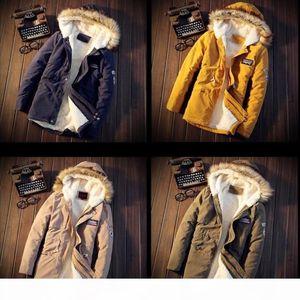 Winter Parka Men Jacket Fur Hood 2017 Winter Jackets Oversize 5xl Mens Parka Homme Navy Green Khaki Yellow Men Puffer
