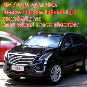 Toy Car 1:32 Cadillac XT5 Metal Alloy Diecast Car Model Miniature Model With Sound Light Model Gift Toys For Children's vehicle Z1124