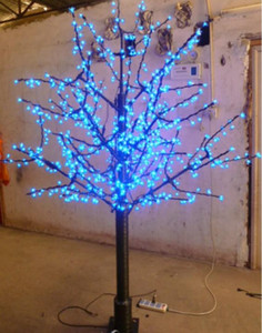 LED Christmas Cherry Blossom Tree 672pcs LED Bulbs 1.8m 6ft Height 110 220VAC Rainproof Outdoor Usage Free Shipping Drop Shipping