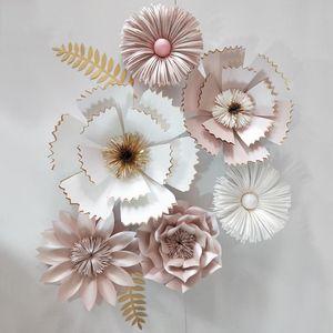 العملاق ورقة الزهور الفاوانيا ارتفع كبير أقحوان diy المنزل الزفاف التصوير خلفية الجدار الديكور الزهور سكرابوكينغ