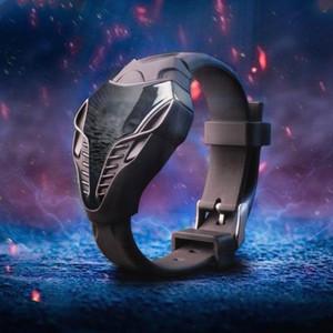Moda Siyah AMP; Beyaz Renk Erkek LED Dijital Cobra Üçgen Arama Silikon Spor Saatler Taktik İzle Çocuklar Yeni Yıl