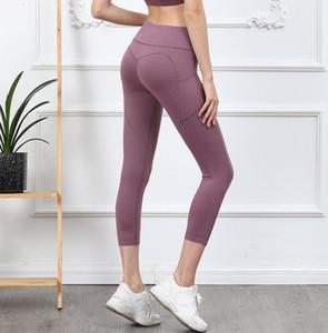 Capris Pantalones Mujeres Sheer Yoga Fitness Mujeres Corriendo Joggers Sexy Yoga Pantalones Pantalón de Yoga Pantalones para mujer XH66MH