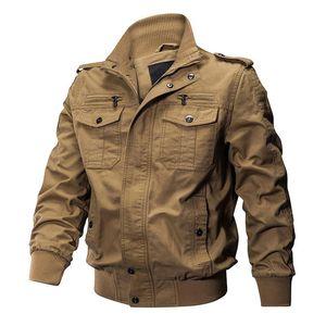 Tactical Jacket Men Tactical Winter Pilot Jacket Army Cotton Coat Autumn Fashion Casual Cargo Slim Fit Clothes Hiking