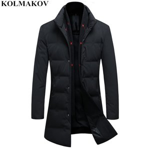 KOLMAKOV 2020 New 85% Duck Down Jackets Men's Classic Casual Winer Coats with Detachable Scarf Mens Warm Thicken Jackets M-3XL Y1120