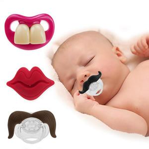 Silikon Emzik Komik Emzik Emzik Sakal Dişleri Kırmızı Dudaklar-Şekilli Meme Yürüyor Bebek Çocuklar Komik Emzik DHD3528