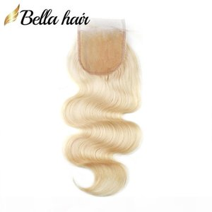 613 Blond Top Lace Closures Brazilian Virgin Hair Extensions Closure Body Wave 4x4 5x5 100% Human Hair Closures with Baby Hair Bellahair