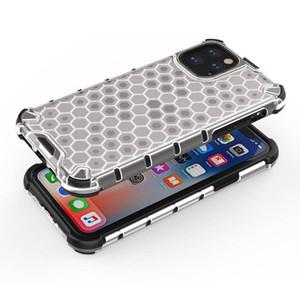 Hybrid TPU и PC Armor Phone Чехол для iPhone 11 Pro Max 11 Pro Соты Прозрачный Абонасовый Чехол Для iPhone XS MAX XR XS X 7 8 PLUS