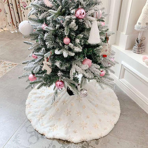 Christmas Tree Skirt Christmas Tree Foot Carpet Skirt Mat Under The Decorations For Home Snowflak