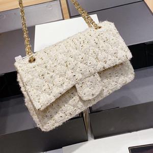 Yeni Moda Stil Bayan CC Çanta Klasik Duffle Altın Ipek Omuz Çantası Luxurys Tasarımcılar Çanta Messenger Çanta Çanta Ücretsiz Kargo