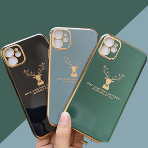 iPhone12 Electroplating Elk Phone Case All-Inclusive Lens Apple 6 7 8 Plus X XR 보호 커버 6D 소프트 쉘 휴대 전화 케이스