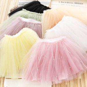2021 Spring 5pcs lot pearl girls skirts lace Tutu skirts fashion princess girls tiered skirts ballet Tutu skirt kids clothes B3678