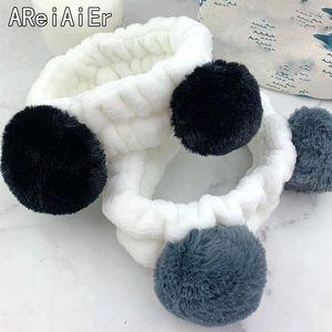 New Little Bear Panda Coral Coral Fleece Wash FACK PACCHETTI A PACCHETTI PER GIOCHI DONNA ACCESSIONALI ACCESSIONI Headwear Bands Accessori per capelli TURBAN