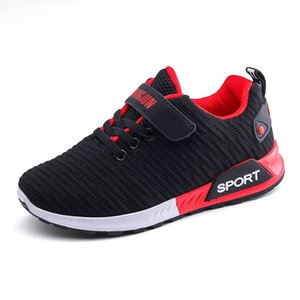 Children Sports Shoes Autumn Boys Girls Anti-slip Patchwork Net Breathable Kids Sneakers Infant Child Running Shoe Black Red Y1117