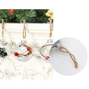 Transparent Ball Holiday Decoration Ball Plastic Candy Box Gifts for Children Christmas Ball Ornaments Interior Decoration Christmas Tree De