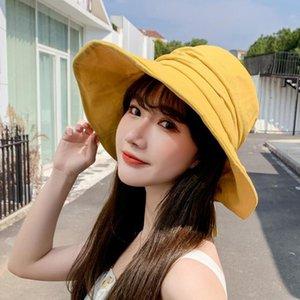 Cokk Hat Women Summer Bucket Hat Female Solid Fisherman Cap With Bow Folding Sun Hat Korean Suncreen Casual Sunhat Gorro Chapeu Swy sqcMHw