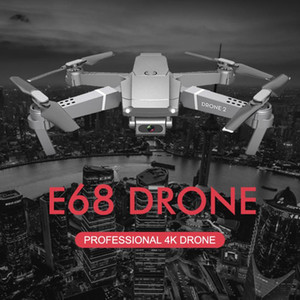E68 Drone 4K Professional Multi-Battery Longer Battery Life Altitude Holding Gesture Photo Video RC Foldable Quadcopter 2020 Toy