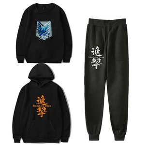 Attack on Titan Winter Tracksuit Womens 3 Piece Sets Sweatshirt Sweatpants Set Female Sportswear Sweat Suits Clothes Women 2020
