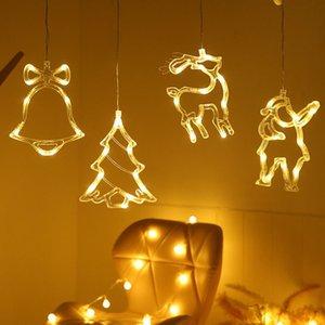 LED sucção de Natal Luzes Luzes Boneco de Neve Decorações de Árvore de Natal Janela Decorativa luzes Xmas Creative Susping Lights FWA2417