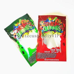 2021hj New Dank Gummies Mylar Bag Edibles Retail packaging 4 styles Smell Proof Bags Zipper Mylar Bags Dry Herb Flower Package
