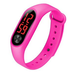 New Fashion Men Digital Watches Women Bracelets Sports LED Electronic Candy Silicone Wrist Watch for Children Kids