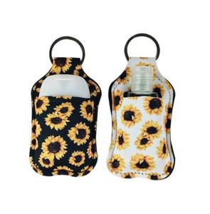 Neoprene Sanitizer Bottle Holder RTS Perfume Keychain Bags Portable Key Rings Hand Soap Bottle Holder Cover 30ML Empty Bottle DDC3705
