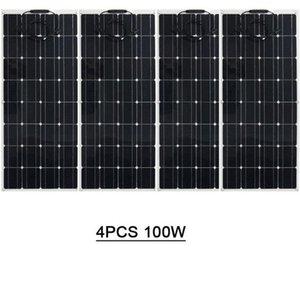 خلايا الصين لوحة مرنة 100W 18 فولت لوحة الضوئية شاحن بطارية 12V، أحادية الخلايا الشمسية الذكور والإناث موصل