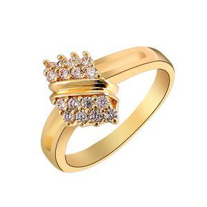 Moda europea y americana chapado en oro anillo de circón exquisito personalidad micro-incrustado joyería bowknot anillo joyería femenina