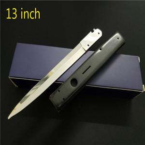 Blade дюйм горизонтальный AB HODFATHER EDC Tools Tools Stiletto Охотничьи Охотничьи Нож тактичны 13 Выживание Кемпинг 440C Автоматические ножи Mafia IT JQMJ