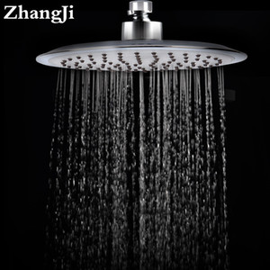 Zhang Ji Quality 20cm Big Rainfall Shower Head Stainless Steel Silica Gel Hole Bathroom Shower Head Water Saving Spray Nozzle 201105