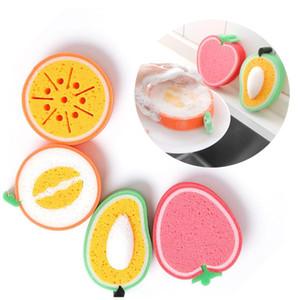 Esponja de engrosamiento de la fruta para limpiar el paño de la microfibra Paño de plato de tela al por mayor fuerte descontaminación plato toallas HWC3970