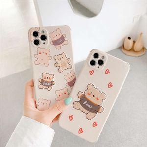 Hanfeng Love Bear é adequado para 11Pro Maxxs XR / SE Caixa Mobile 7p Soft Case 8Plus