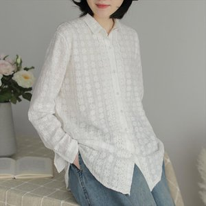 Johnature 2020 Spring New Embroidery Cotton Casual Womens Blouses Tops Loose Long Sleeve Women Blouse White Shirts Sweet