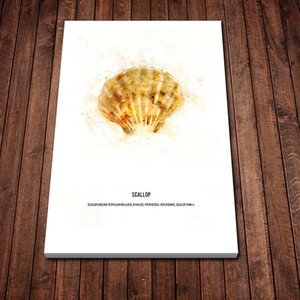 Scallop Golden Oil Painting Art Poster Canvas Poster Painting Wall Art Decor Living Room Bedroom Study Home Decoration Prints