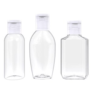 10Pcs Clear Plastic Empty Bottle Flip-Top Hand Sanitizer Refillable Container Portable Shampoo Lotion Cosmetic Dispenser
