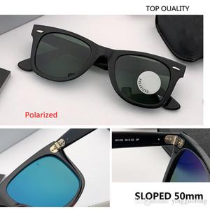 2021 nouvelles lunettes de soleil en pente Hommes Mesdames rétro Trend Square Square Slanted 50mm Polarized Sunglass Femme Marque Sunglasses Top Qualité Gafas