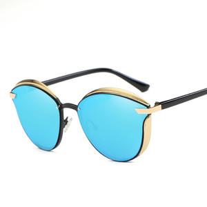 Fondyi Dropshipping Polarized Mulheres Cat Eye Sunglasses UV400 Meninas Moda Sol Óculos de Sol Feminino Party Eyewear com Caso