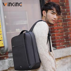 Kongsons Vk Square Fashion Business Компьютерная сумка USB Зарядки Антиренаж Урбанский Путешествия Рюкзак для молодых людей