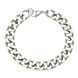 hip hop Simple smooth Cuban chain light luxury men's bracelet bracelet personalized versatile stereo rap Bracelet