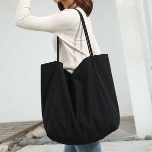 النساء فتاة حمل حقيبة قماش حقيبة تسوق قابلة لإعادة الاستخدام soild اضافية كبيرة حمل بقالة البيئية البيئية المتسوق حقائب الكتف x7qv #